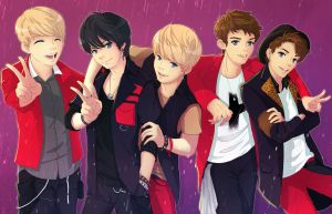 SHINee as Anime Characters! by shobey1kanoby