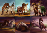 [Horses].Kaaring Pack -Anhur- -Dawn Bringer-:. by The-Day-of-Shadow
