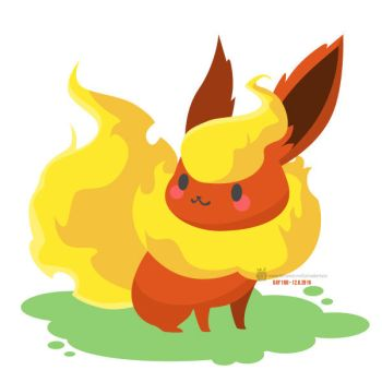 Day 168 - Flareon by salvadorkatz