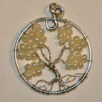 Tree of Life Pendant in White by caerul