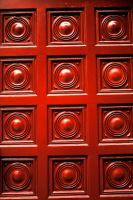 Red Sphere Door by namespace