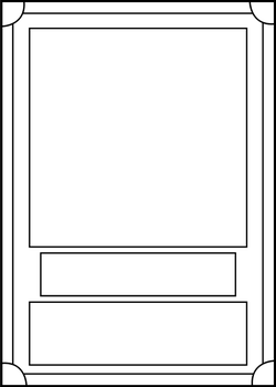 DeviantArt: More Like Card Design - Trading Card Game Template ...