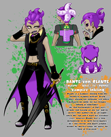 [SPLATOON] Claute the Vampire Inkling [OC sheet] by SoloAzume