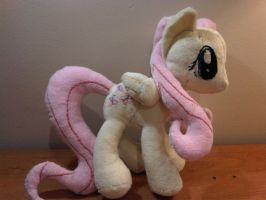 Fluttershy Plush - Commission by caashley