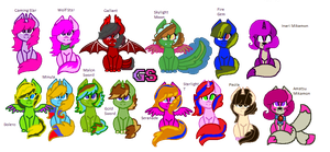 All Of My Ocs, and Redesigns by GamingStarLuigiSin