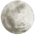 Moon - painted by DameOdessaStock