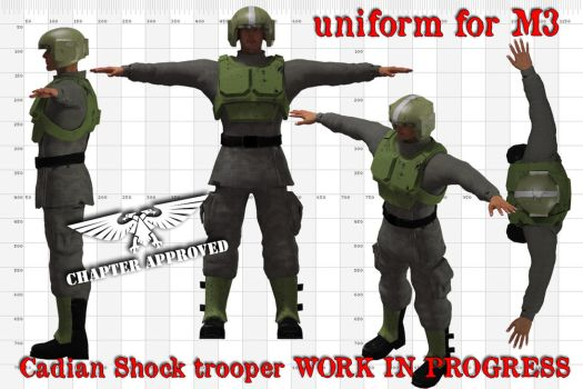 Wip Cadian Shock Trooper by jibicoco