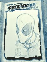 DEAD POOL Head MCBA Fall Con sketch by JoeyVazquez
