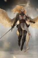 Angel-in-the-war-2 by LeeKent