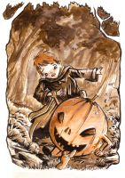 pumpkin fairy gift.. by neurotic-elf