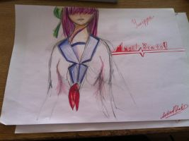Angel beats!: Yurippe color scetch. by artistYah