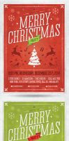Retro Christmas Party Flyer Template by saltshaker911