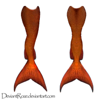 Mermaid Tails 09 (Reddish-Orange) by DeviantRoze