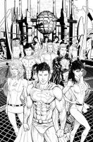 Adventure Comics cover inks by Hachiman1