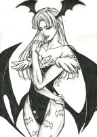 Morrigan Aensland Inks by Bathiel