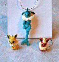 Eeveelution Jewelry Set by nemuineko85