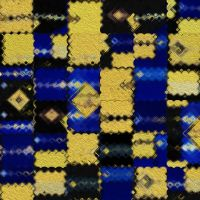 Blue and Yellow Wax Patchwork 01 by dlandi