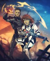 Mass Effect Marriage by RangyRougee