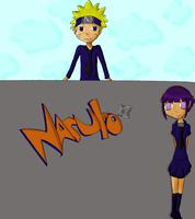 .:Naruhina:. The Wall by westen100