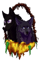 . Drim and Vel . by GoldenEyesWolf