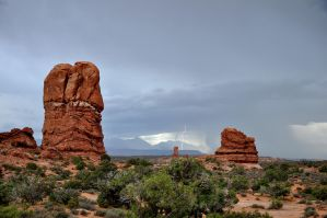 Two rocks and some lightning by Zavitala
