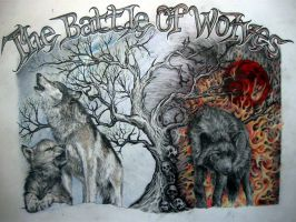 The battle of wolves by Tattoo-Design