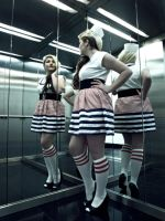Sailor in Elevator by Crispey