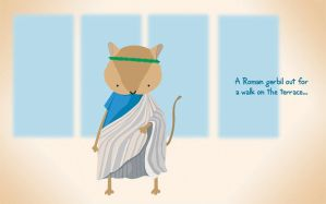 A Roman Gerbil Out For A Walk by renton1313