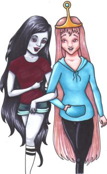 Marceline and Princess Bubblegum: BFF by EntropyStar