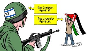 The chosen and the chased by Latuff2