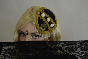 STOCK - Steampunk in creme colour - blonde, scarf by Apsara-Art