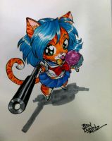 Catgirl with Gun commission by Dogsupreme