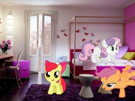 CMC In Bedroom (IRL) by UnicornRarity