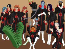 Full Akatsuki - Colored by Sheelos-lover