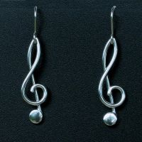 Treble Clef Earrings by harlewood