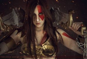 Female Kratos by SalvadorBaggins