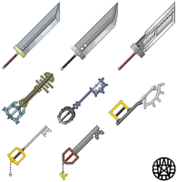 Final Fantasy Pixel Weapons by Nez99