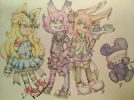 wonderland themed adopts (1/4 open) by Stellas-adopts