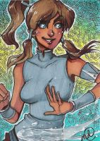 Korra sketch card by luniara