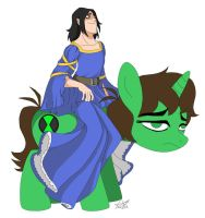 Princess Kevin and his Noble Steed by Rygel-n