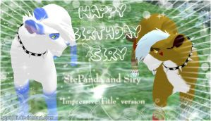 Happy Birthday Siry IT version by StePandy