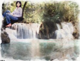 Prue at the falls by charmedangel61
