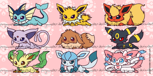 Eeveelutions by ponymonster