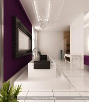Purple-White Bathroom 4 by Semsa