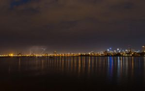 Storm over the city by tessavance