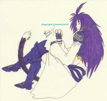 Kuja resting by MaguschildCloud