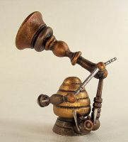 Steampunk Wood Victrola by buildersstudio