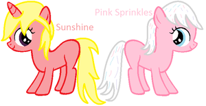MLP Adopted OC - Sunshine and Pink Sprinkles by Appimena