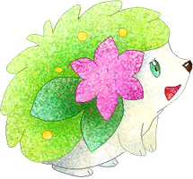 shaymin coloured by Sulfura