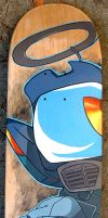 FLCL Canti skateboard by thaddeous